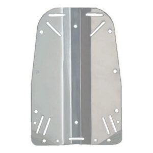 Halcyon: Backplate roestvrij staal / Smal