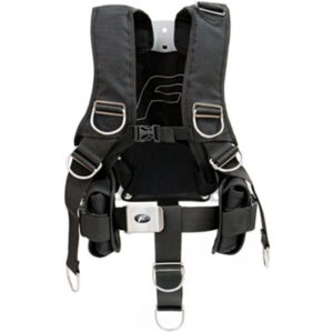 Finn Sub: Fly Comfort harnas & backplate / roestvrij staal