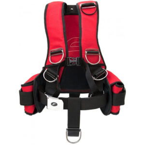 Finn Sub: Fly Comfort Rescue harnas & backplate / roestvrij staal