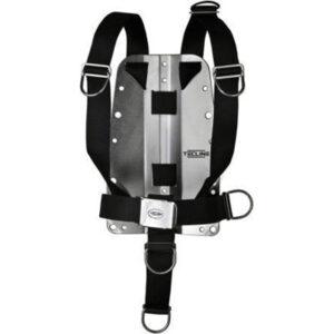 Tecline:  DIR harnas & backplate 3 mm / aluminium