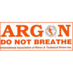 IANTD: Identificatie sticker Argon