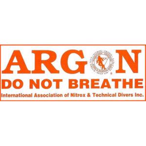 IANTD: Identificatie sticker Argon