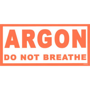 Argon identificatie sticker