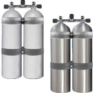 Dubbelset aluminium / 80 cuft