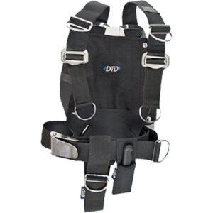 DTD: Verstelbaar harnas & backplate 6 mm / roestvrij staal