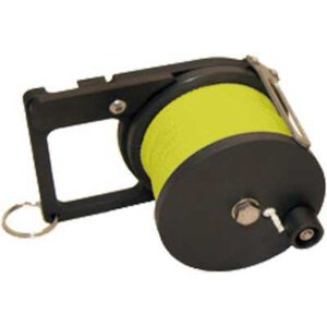 Custom Divers: Pocket Ratchet Reel / 50 m neon geel