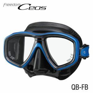 Tusa: Masker Freedom CEOS / zwart siliconen