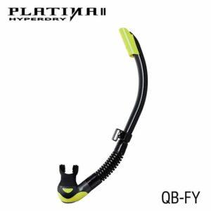 Tusa: Snorkel Platina II Hyperdry / zwart siliconen