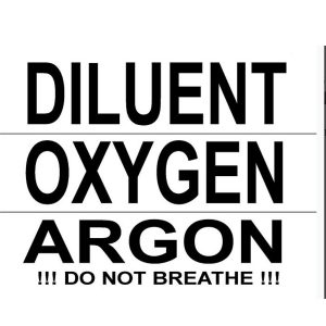 DTD: sticker (small, 17×5 cm) – pcs OXYGEN / Argon
