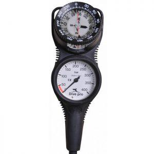 Divepro: SPG met kompas 2 delig