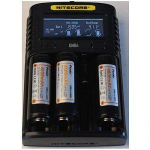 Green Force: Laadset Hybrid 3 + 3 X 26650 LI-ION EU