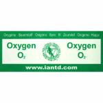 IANTD: Identificatie sticker 100% Oxygen (nieuw)