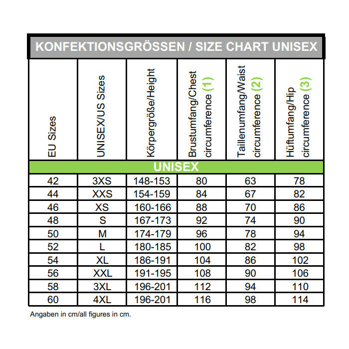 camaro size-chart