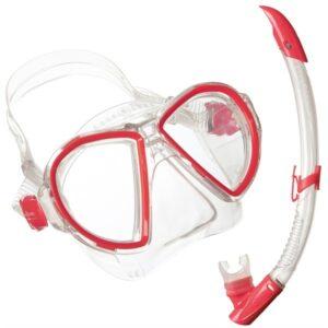 Aqua Lung: snorkelset Duetto Midi LX + Airflex Purge Midi LX