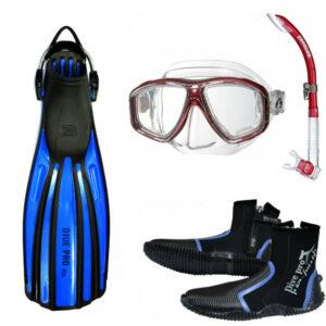 Grundutrustning dykningssats mask & fenor